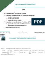 Chapitre 9 - L'Évaluation Des Actions. Plan