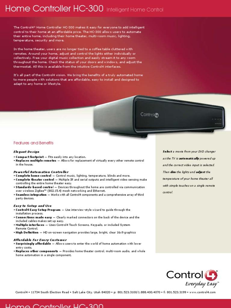 Control4-HomeControllerHC-300 | Automation | Usb