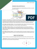 Temario Modos Autofoco y Área de Enfoque Por Berna Auyanet