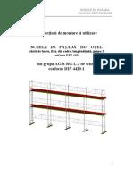 Manual de Utilizare Schele de Fatada Din Otel Grupa III