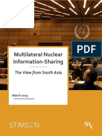 Multilateral Nuclear Information Sharing 2019 Report Final