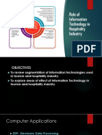 Role of Information Technology in Hospitality Industry
