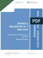 Nivel Primario - Ateneo Didáctico N° 1 Encuentro 3 - Segundo Ciclo Matemática - Carpeta Coordinador