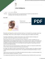 Treats Might Mask Animal Intelligence -- ScienceDaily