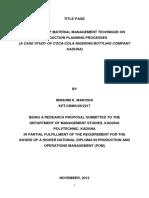 Impact of Material Management on Organiz