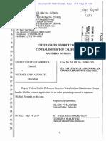 Avenatti - District Ct. Application for Public Defender Without Filing Fin. Dec.