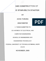 Design and Construction of Automatic Star-Delta Starter