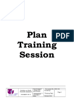 2. Plan Training Session
