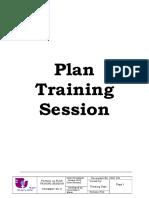 2. Plan Training Session