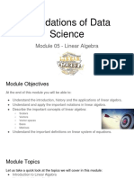 DSML - Sem 1 - Module 05 - Linear Algebra