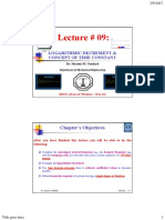 Logarithmic Vibration Lecture