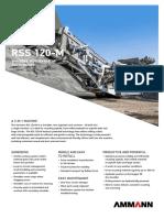 Rss 120-m Recycling Shredder Screener Sell Sheet Pss-1339-00-En
