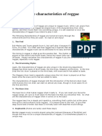 What are the characteristics of reggae.docx