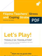 Report Teacher Stress Coping Strategies