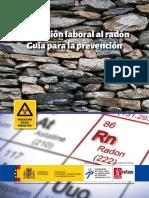 Exposición laboral al radón - Guía para la prevención