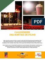 Liste des sorties des films dans le réseau Mauréfilms Distribution jusqu'au 3 juillet