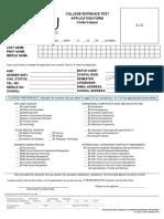 Lyceumcollege Entrance Test Form