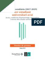 Informe completo de Xarxa Vives sobre el perfil de los universitarios