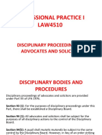 TOPIC 15. Disciplinary Proceedings