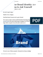 11+ Questions to Ask Yourself When Building Your Brand Identity