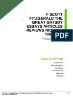ID70e82569f-f scott fitzgerald the great gatsby essays articles reviews nicolas tredell