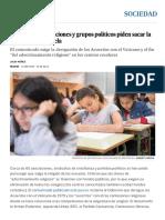 Cerca de 60 Asociaciones y Grupos Políticos Piden Sacar La Religión de La Escuela _ Sociedad _ EL PAÍS