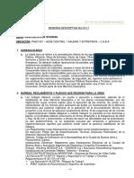 Memoria Descriptiva Nro 01-17 - Remodelacion de Oficinas