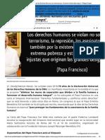 Francisco Recuerda Que Los Derechos Humanos Son Necesarios Para _favorecer El Desarrollo Integral_ _ Religión Digital