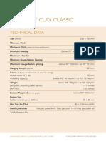 Rosemary Clay Classic Technical Product Datasheet