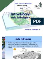 CLN 2 Hidrología - 1 A2 Ciclo Hidrologico Pre-maestría en Ciencias Ambientales UNALM Perú S. Santayana V.
