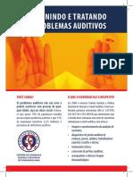 Panfleto Prevenindo e Tratando Problemas Auditivos