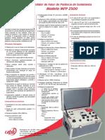 Medidor de Fator de Potencia Isolamento Mfp 2500 Utili