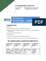 Estandar Tecnico de Productor Empresario de Calzados en Cuero