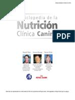 Enciclopedia de la nutricion canina