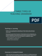 4. the Three Types of Teaching Grammar