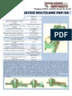 Fiche Technique Scie Alternative Multilame PRP 58
