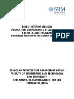 BDes 2016 Regulation Curriculum Syllabus