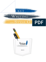 Pocket Writing and Style Guide