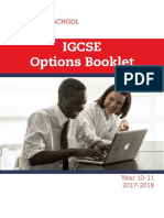 IGCSE Options Booklet 17 19