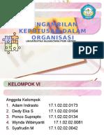 Pengambilan Keputusan dlm Organisasi.ppt