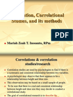 Correlational Studies Report Masteral