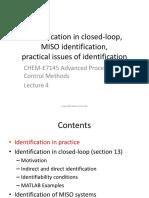 Identification in closed loop