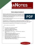 Wick Drain Design - Terra System