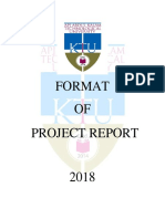 Seminar and Project Report Format