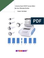 Unoisetion Cavitacion Smart 3D RF Vacuum 160mw. Lipo Laser Slimming Machine. Model_ YH-5504S