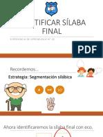 Apoyo Clase 43 Lenguaje Identificar Rimas o Sílaba Final