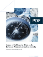 Detecon Study Impact of the Financial Crisis on the European Telecommunications Industry