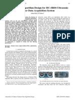 Kalman Filter Algorithm Design for HC-SR04 Ultraso
