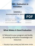 MED7083 - Evaluation in Education