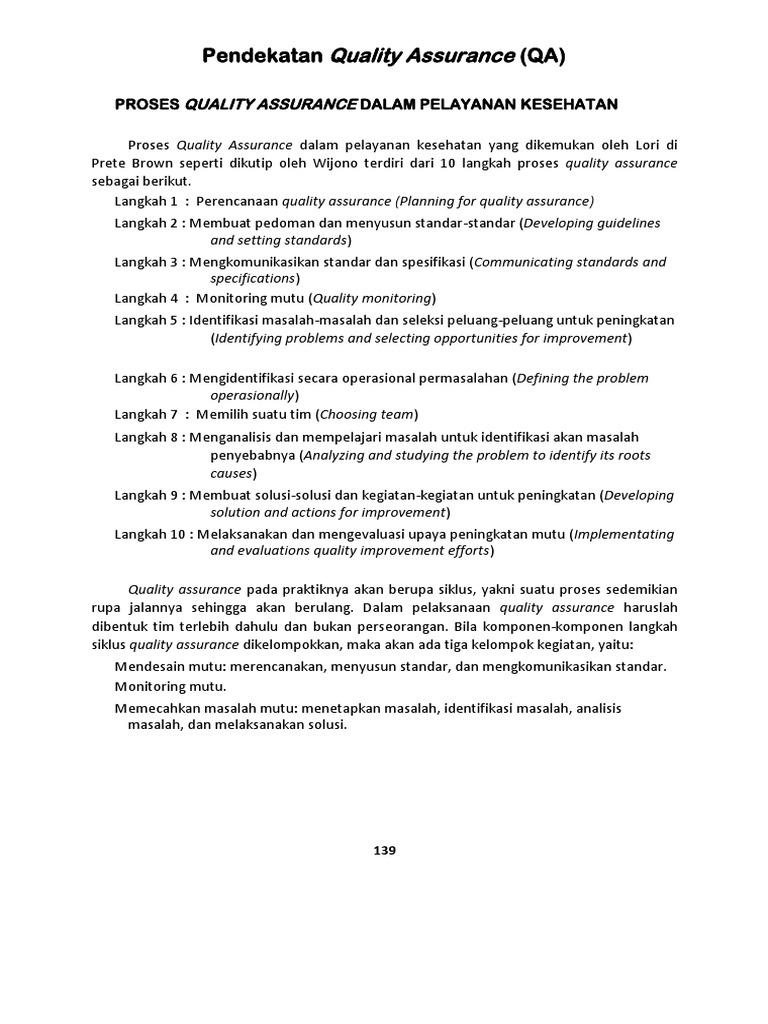 Pendekatan Quality Assurance Docx
